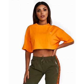 Nicky Kay Cropped Tee Orange