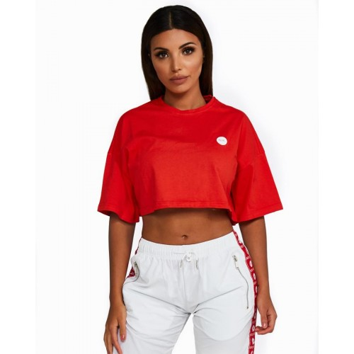 Nicky Kay Cropped Tee RED