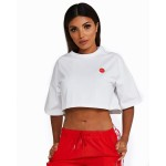 Nicky Kay Cropped Tee WHITE