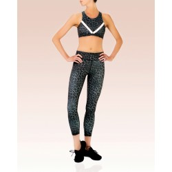 Vie Active Rockell Legging Charcoal Leopard